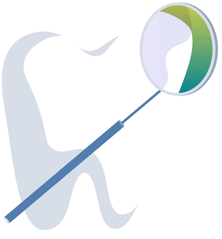 Animated tooth and dental exam tool