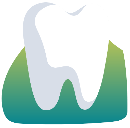 Animated tooth and receding gum tissue