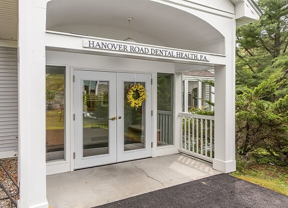 Hanover Road Dental Health office building entrance